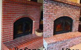 bricks distress age hot to, concrete masonry, fireplaces mantels, how to, painting, repurposing upcycling