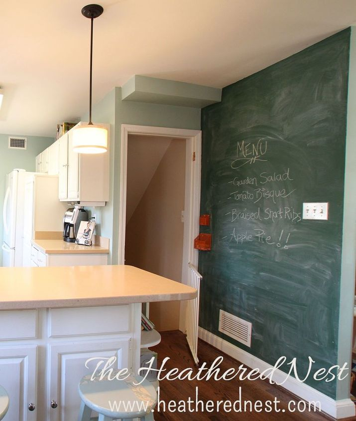 Paint your walls with chalkboard paint hometalk for How to paint a wall with chalk paint