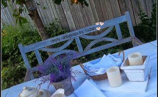 table outdoor whitewash refinish, outdoor furniture, painted furniture