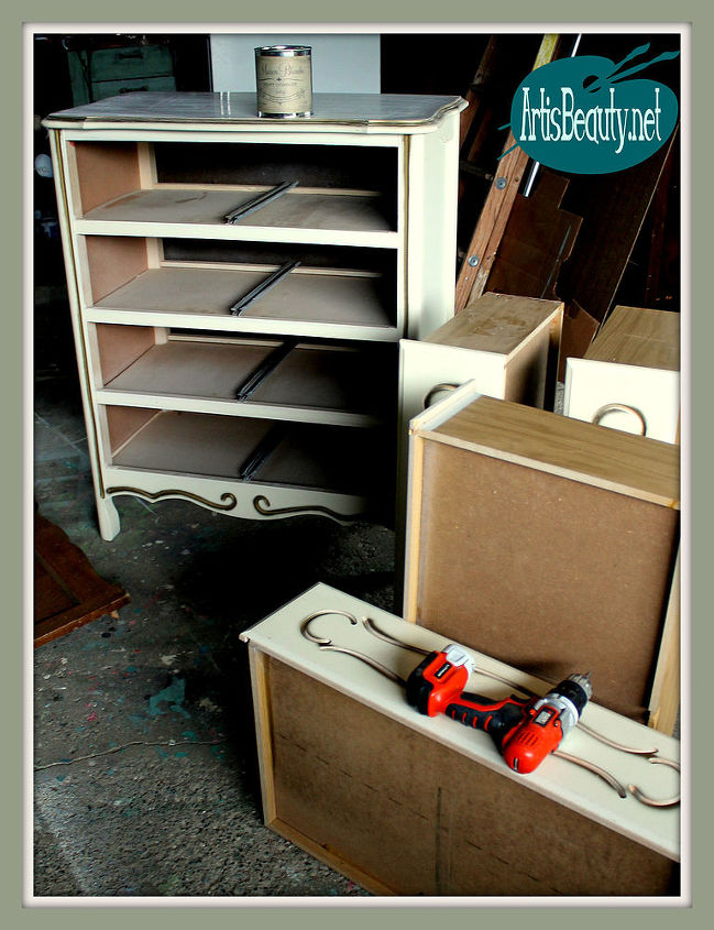 French Provincial Dresser Makeover Color Combos