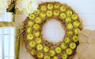wreath apple diy thrifty, crafts, home decor, wreaths