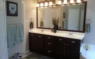 bathroom makeover redo wood staining, bathroom ideas, painted furniture, small bathroom ideas