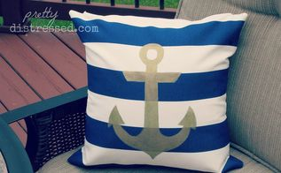 deck nautical makeover navy, decks, diy, outdoor furniture, outdoor living, painting