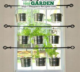 superb Kitchen Herb Garden Design #7: herb kitchen hanging garden rods, container gardening, gardening, kitchen  design