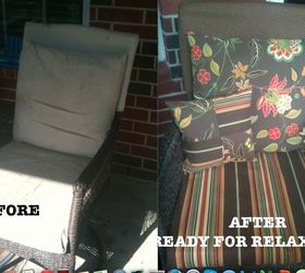 Patio Furniture Cushions Redo, Outdoor Furniture, Painted Furniture,  Reupholster Kim