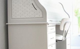stenciling roll top desk tips, painted furniture, painting