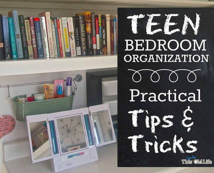 Teen bedroom organization makeover hometalk for Teen bedroom storage