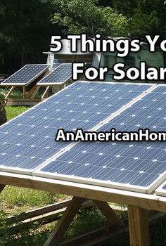 5 things for solar power, electrical, go green