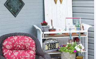 changing table gardener cart repurpose, outdoor furniture, outdoor living, painted furniture, repurposing upcycling