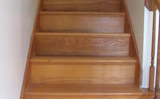 q stair carpet removal process, diy, flooring, hardwood floors, stairs, All pulled and I washed them down with Fels Naptha soap and water Love the look of the fresh wood Just don t want to fall down the stairs if I stain them Is there a special product so I won t slip on them