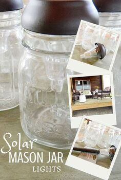 mason jar solar light diy, crafts, lighting, mason jars, outdoor living, repurposing upcycling