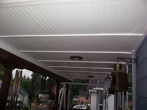 How Can I Finish My Back Porch Ceiling In An Inexpensive