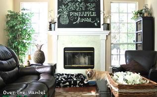 chalkboard paint ideas mantel piece, chalkboard paint, fireplaces mantels, home decor, living room ideas