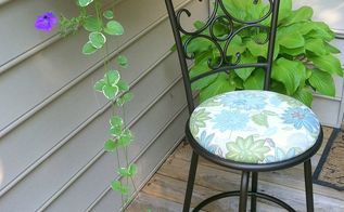 chair seat cover makeover budget napkin, how to, outdoor furniture, repurposing upcycling, reupholster