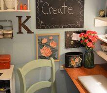 craft room makeover, craft rooms, shelving ideas, storage ideas