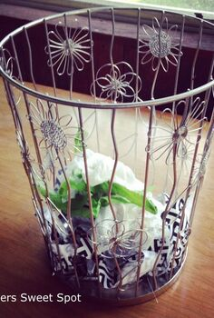 lamp trash can repourpose, home decor, lighting, repurposing upcycling