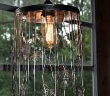 lamp trash can repourpose, home decor, lighting, repurposing upcycling