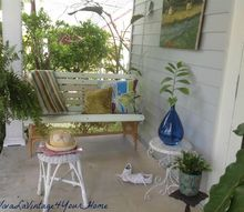 patio swing budget decor, outdoor living, painted furniture, patio, porches