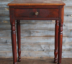 Painted Furniture Side Table Blue Fabric Detail, Chalk Paint, Painted  Furniture, Reupholster
