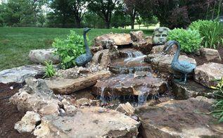 pondless waterfall backyard project, landscape, ponds water features, Beautiful