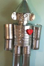 craft tin man upcycle, crafts, gardening, repurposing upcycling, Mr Tin Man