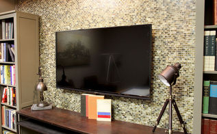 custom wall mosaic tile redo, living room ideas, tiling, wall decor