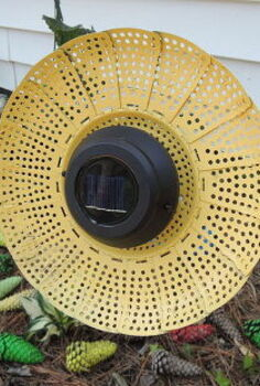 garden decor light veggie steamer upcycle, diy, gardening, lighting, outdoor living, repurposing upcycling, A finished product