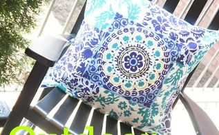 patio ideas pillow diy, crafts, how to, outdoor living, reupholster