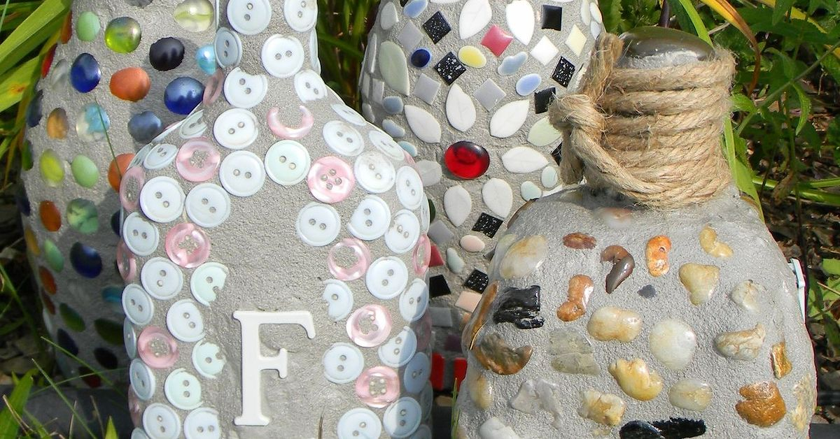 garden mosaics from recycled materials hometalk