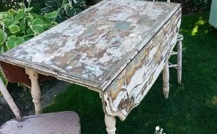 pink drop leaf table and chairs, outdoor furniture, painted furniture