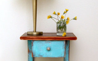 before and after side table and lamp makeover, home decor, lighting, painted furniture