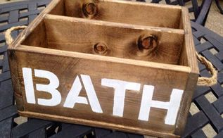 wood caddy, bathroom ideas, organizing, storage ideas, woodworking projects, Wood Caddy with rope handles