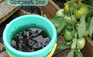 simple compost tea, composting, go green, homesteading