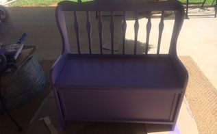 diy painting a wooden toy box, painted furniture