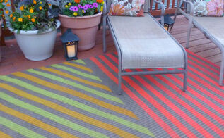 diy painted outdoor rug, decks, flooring, outdoor living, painting