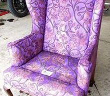 painted furniture wingback chairs vintage budget, painted furniture, reupholster