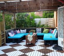 patio decor ideas porch furniture, decks, diy, outdoor furniture, outdoor living, pallet, patio, repurposing upcycling, woodworking projects