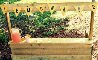 how to make a wooden pallet lemonade stand, diy, outdoor living, pallet, woodworking projects