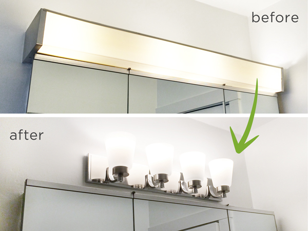Vanity Light Cover Diy : Bathroom Light Fixture Switchout Hometalk
