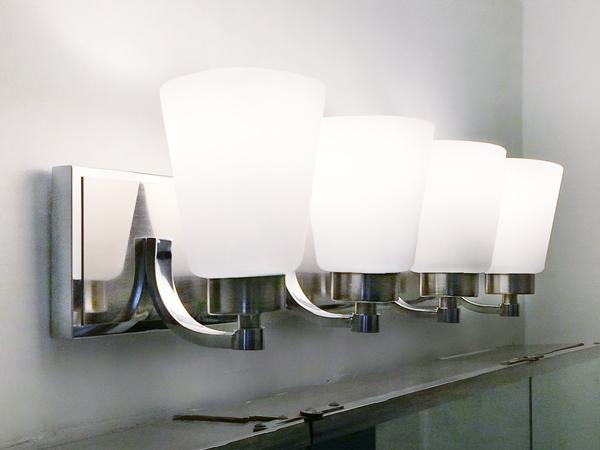 Franklite 2 Light Over Mirror Switched Bathroom Light With: Bathroom Light Fixture Switchout