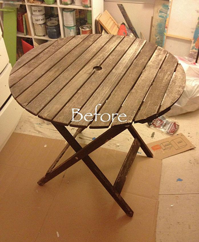 Patio Table Chalk Paint Makeover Hometalk