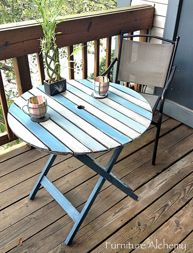 Patio Table Chalk Paint Makeover Hometalk