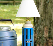 how to make a lamp out of a thermos, lighting, repurposing upcycling
