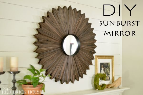 Wall Art Wood Mirror Sunburst Diy Home Decor Wall Decor Woodworking Projects