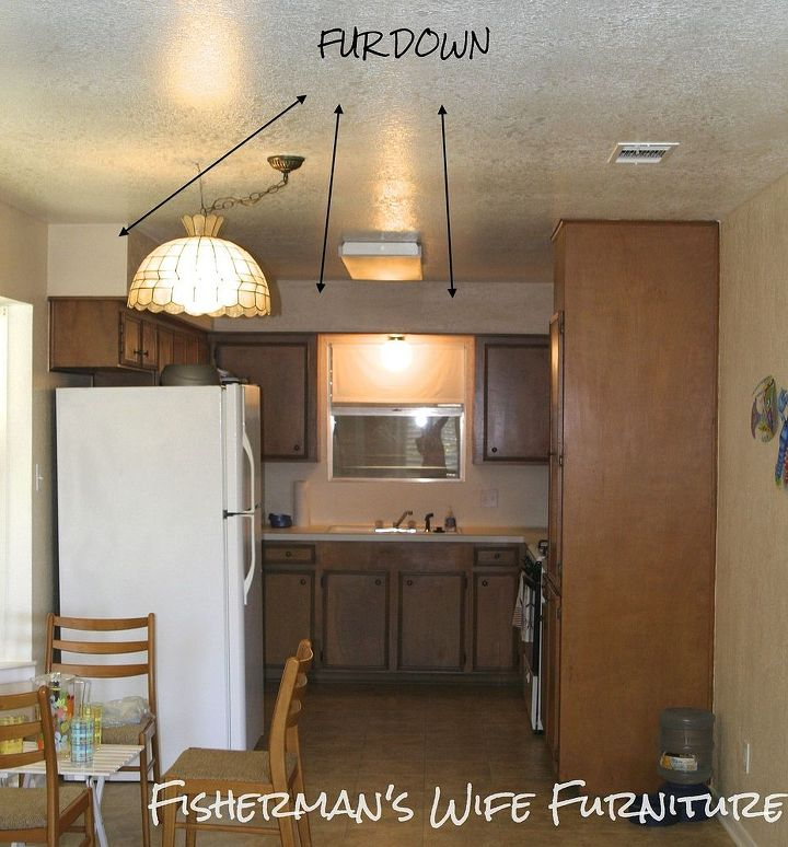 Fill The Gap In The Small Modern Kitchen Designs: Covering Soffit In Kitchen Remodel