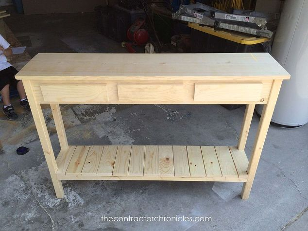Faux Drawer Farmhouse Console Table Hometalk