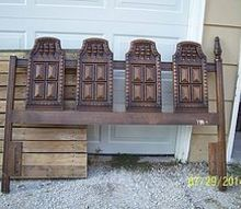 old headboard for the garden, gardening, repurposing upcycling