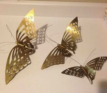 q metal butterflies what to do, crafts, repurposing upcycling, Metal butterflies need ideas please