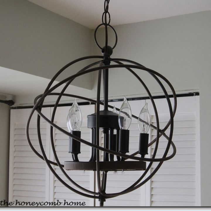 chandelier restoration hardware orb knockoff, lighting, repurposing  upcycling - Knockoff Restoration Hardware Orb Chandelier Hometalk