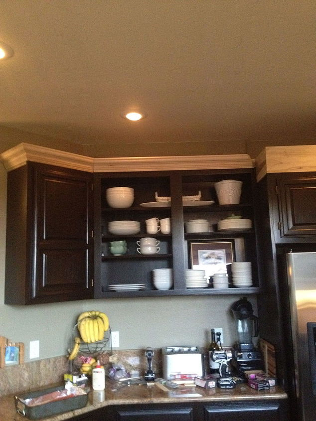 kitchen cabinets stain redo java budget, kitchen cabinets, painting - Kitchen Cabinet Redo For $500.00 Hometalk
